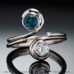 indicate ring and diamond ring wedding set
