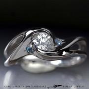 Engagement-4mm-(.314ct,-H-VS)-Round-Diamond-with-(2)-1.75mm-Aquamarine-1
