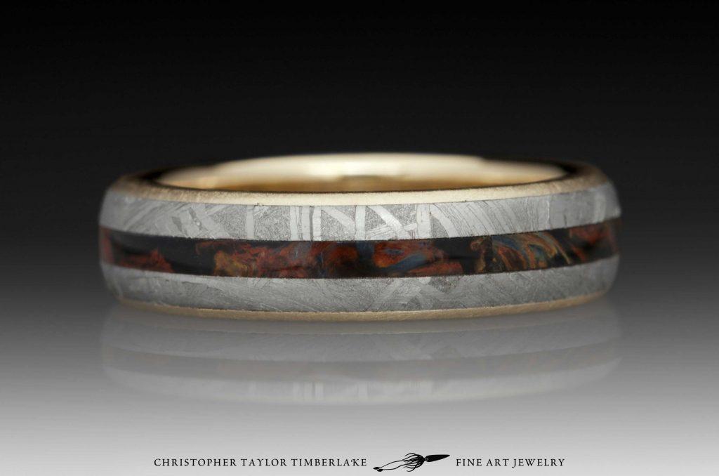 K Meteorite Sapphire Ring