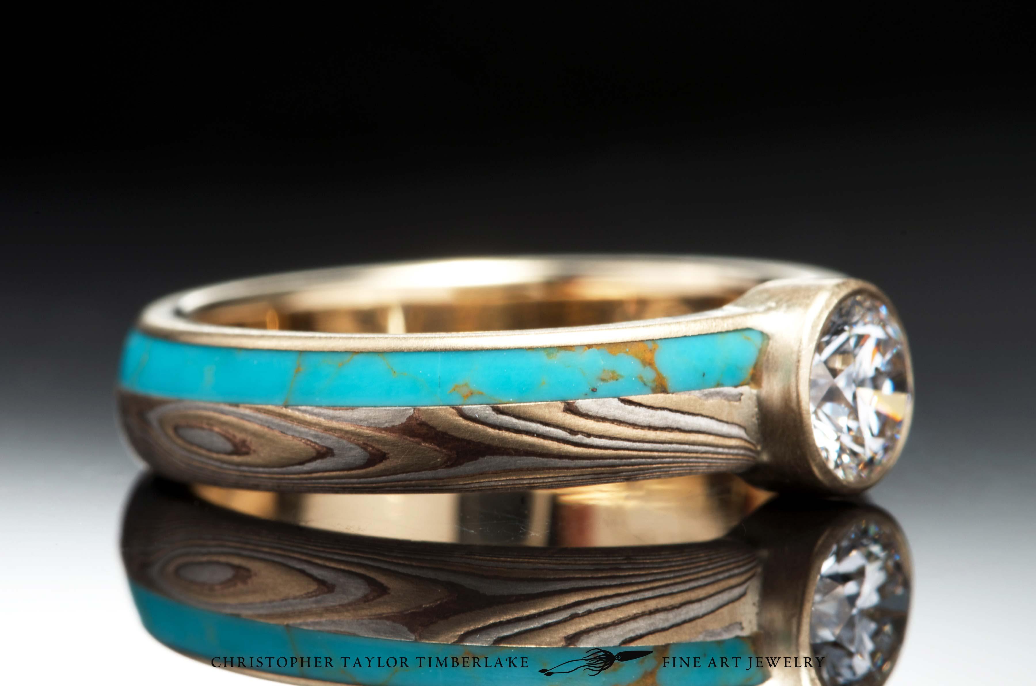 Mokum 233 Gane 14k Yellow Gold Shakudo And Sterling Silver