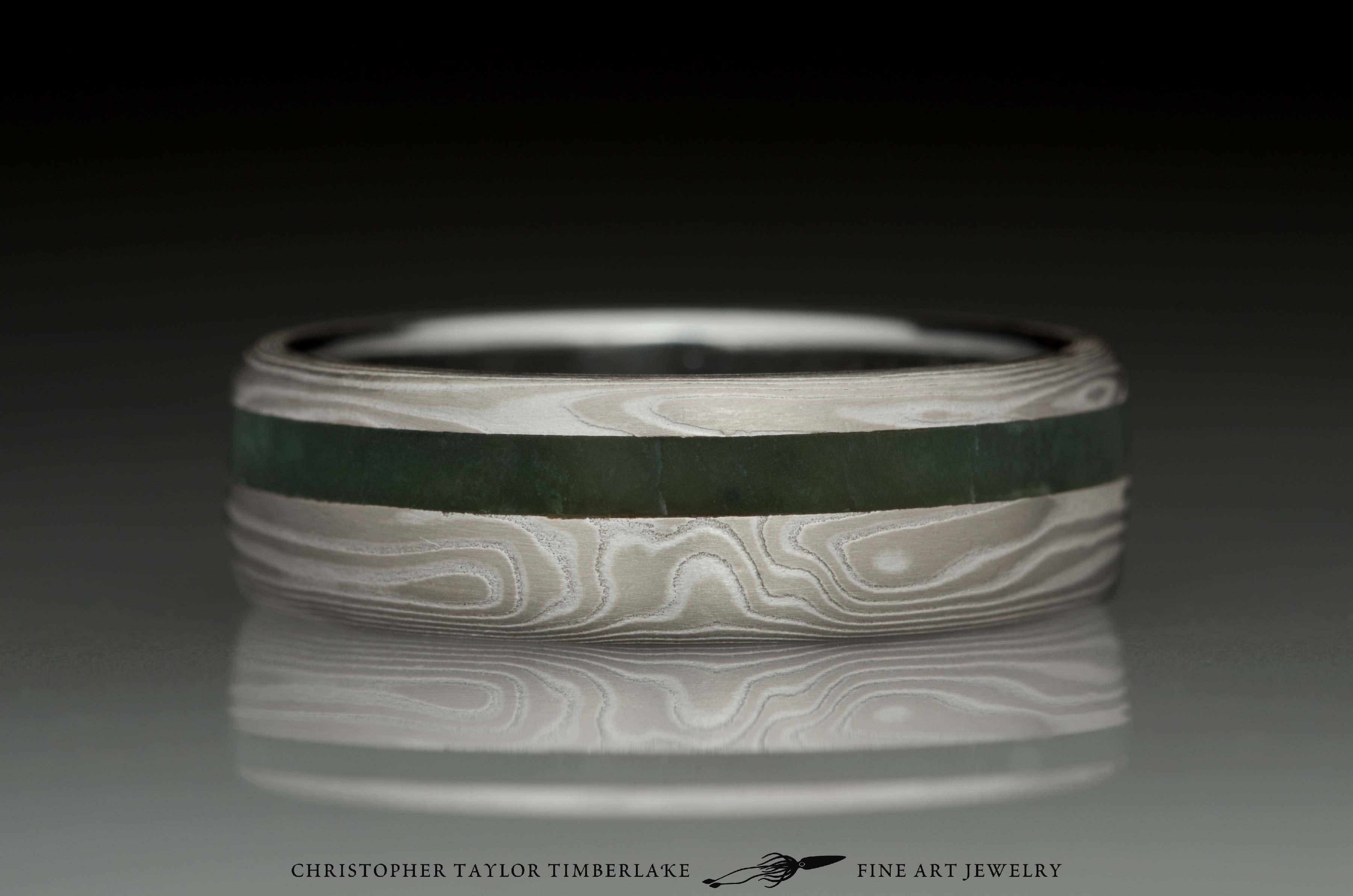 Mokum 233 Gane Palladium White Gold And Sterling Silver Ring