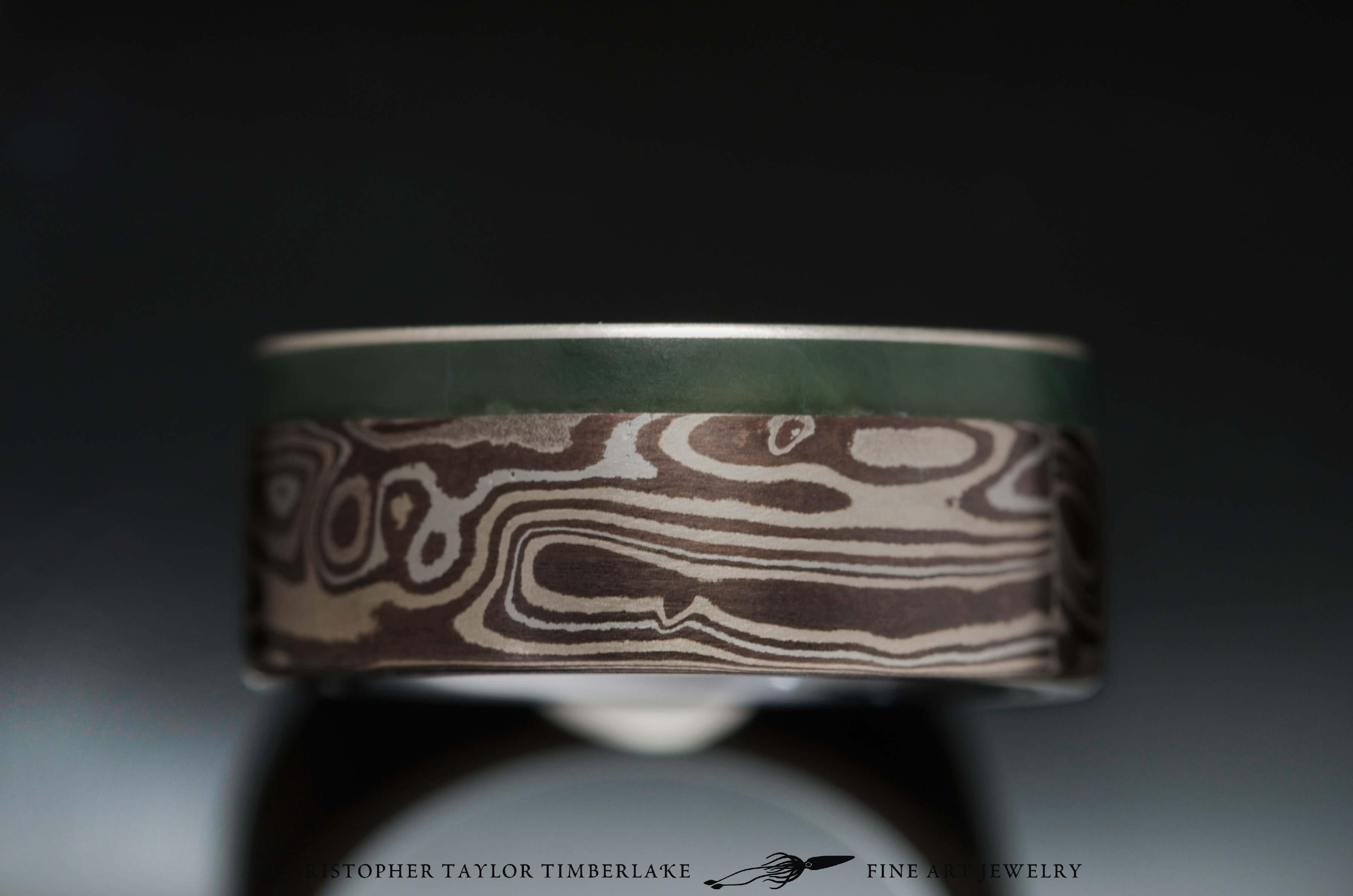 Mokume-with-green-jade-3