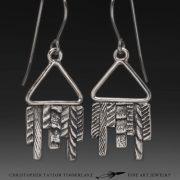 cuttlefish cast earrings dangles sterling silver