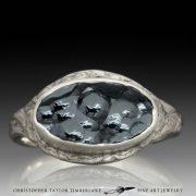 Mokume-Mokumé-Gane-Ring-with-hematite,-contour-carved-1
