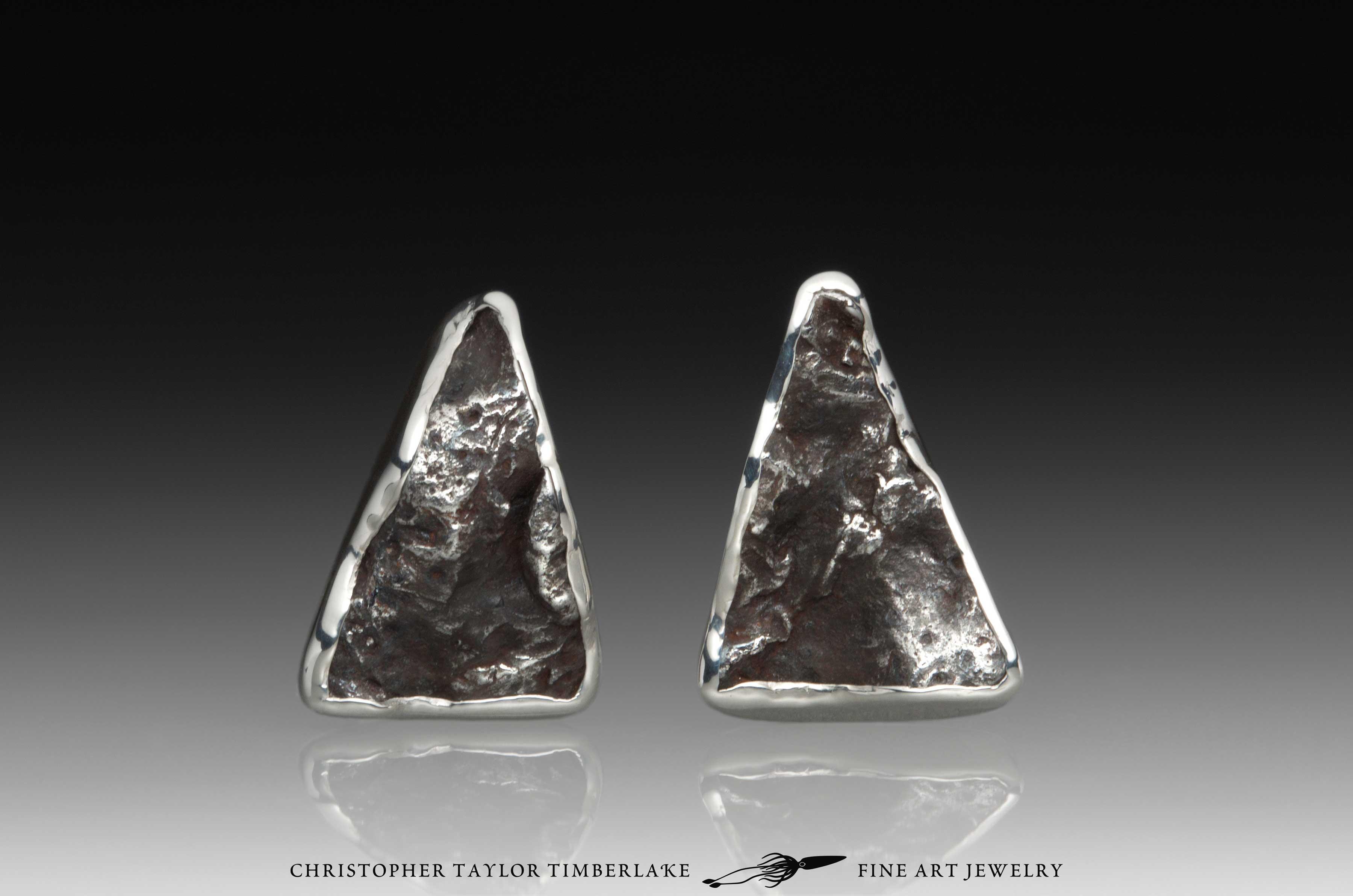 Hubble-Sterling-Silver-Triangle-Sikhote-Alin-Cufflinks-1